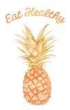 Äta sunt - ananas Stock Illustrationer