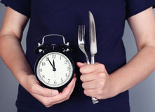äta tid till Fotografering för Bildbyråer