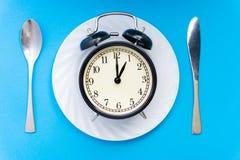 äta tid till Äta lunch Tid, frukosten och matställebegreppet royaltyfria foton