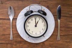 äta tid till Äta lunch Tid, frukosten och matställebegreppet royaltyfri foto