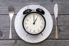 äta tid till Äta lunch Tid, frukosten och matställebegreppet arkivbilder