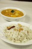 Äter smakliga sunda dagliga mellanmål för Paneer ostmat Royaltyfri Foto