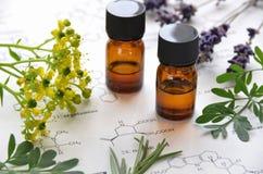 Ätherische Öle und Wissenschaft Lizenzfreies Stockfoto