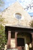 Ätherische Eingangs-Ansicht von Kumler-Kapelle an Miami-Universität lizenzfreie stockfotografie