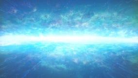 Ätherischer glühender Horizont im Raum lizenzfreie abbildung