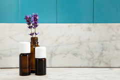 Ätherisches Öl des Lavendels stockfotografie