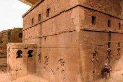 Äthiopien, Lalibela. Moniolitic-Felsen-Schnittkirche lizenzfreies stockbild