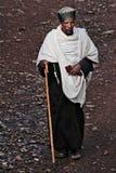 Äthiopien: Orthodoxer Priester in Gonder Stockfotos