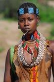 Äthiopische Benna Frau Stockbild