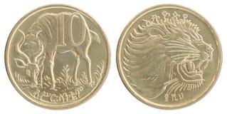 Äthiopische Centmünze Lizenzfreies Stockbild