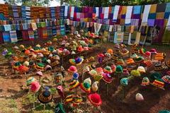Äthiopische Hüte und Schals Lizenzfreie Stockfotografie