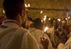 Äthiopische heilige Feuerzeremonie Stockfoto
