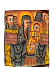 Äthiopische heilige Jungfrau mit Christus Lizenzfreies Stockbild