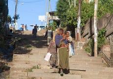 Äthiopische Straßen Stockfotos