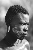 Äthiopischer Mann, tribà ¹ lizenzfreie stockfotografie