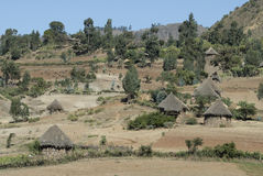 Äthiopisches Dorf stockbilder