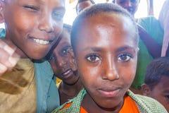 Äthiopisches Jungenporträtbild Lizenzfreie Stockfotos