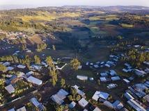 Äthiopisches von der Luftdorf Lizenzfreies Stockfoto