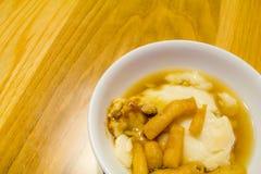 Ätit varmt för böna junket fotografering för bildbyråer