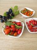 Ätliga lösa frukter Arkivbild