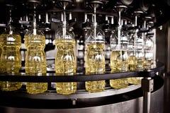 Ätliga oljor för fabrik för tillverkning av grunt Arkivfoton