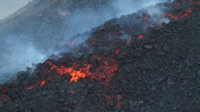 Ätna-Lavafluss stock video footage