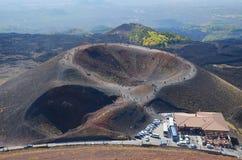 Ätna-Vulkan am größten in Europa lizenzfreies stockfoto