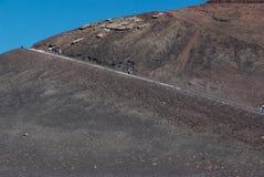 Ätna-Vulkan, Sizilien Stockbilder