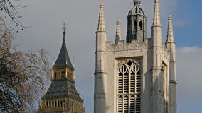 Äußere Ansicht der Westminster- Abbeykirche in London stock video footage