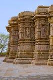 Äußere Ansicht des Sun-Tempels Errichtete im Jahre 1026-27 ANZEIGE während der Herrschaft von Bhima I der Chaulukya-Dynastie, Mod lizenzfreie stockfotos