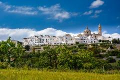 Äußere Ansicht von Locorotondo, Puglia, Italien Lizenzfreies Stockbild