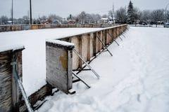 Äußere Hockeyeisbahn stockfoto