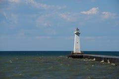 Äußerer Leuchtturm Sodus auf dem Ontariosee Stockbild