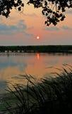 Äußerer Querneigung-Sonnenuntergang Stockfotografie