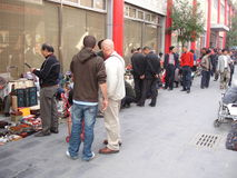 Äußerer Schmutz-Markt Pekings Panjiayuan Stockfotografie