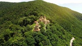 Äußeres berühmten alten Nekresi-Klosters in Alazani-Tal, Sommertourismus lizenzfreie stockfotos