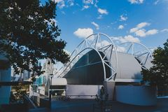 Äußeres der acquatic Mitte Ian Thorpes in Darling Harbour herein Stockfotos