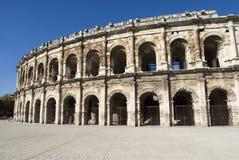 Äußeres der Arena von Nîmes, Frankreich Lizenzfreie Stockfotografie