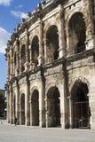 Äußeres der Arena von Nîmes, Frankreich Lizenzfreies Stockfoto