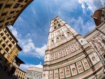 Äußeres der Kathedrale von Florenz Stockbild