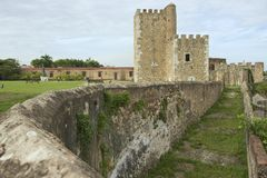 Äußeres der Ozama-Festung in Santo Domingo, Dominikanische Republik Stockbild