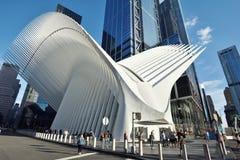 Äußeres der WTC-Transport-Nabe Stockfotografie