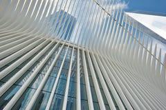 Äußeres der WTC-Transport-Nabe Lizenzfreie Stockfotografie