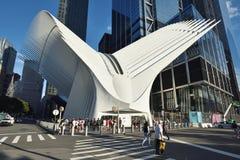 Äußeres der WTC-Transport-Nabe Stockbild