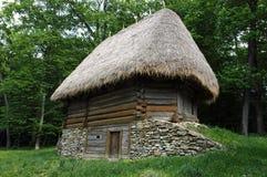 Äußeres des alten ethno Hauses Lizenzfreies Stockbild