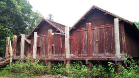Äußeres des antiken ethnischen Hauses Stockbilder