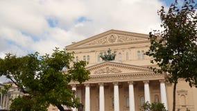 Äußeres des Bolshoi-Theaters in Moskau stock footage