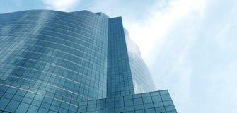 Äußeres des Glaswohngebäudes lizenzfreie stockbilder