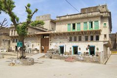 Äußeres des haveli in Mandawa, Indien Stockfotos