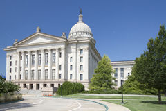 Äußeres des Oklahoma-Staatskapitols USA Lizenzfreie Stockfotos